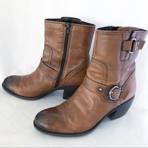 Clark's Mascarpone Cafe Boots Brown Leather Sz 9